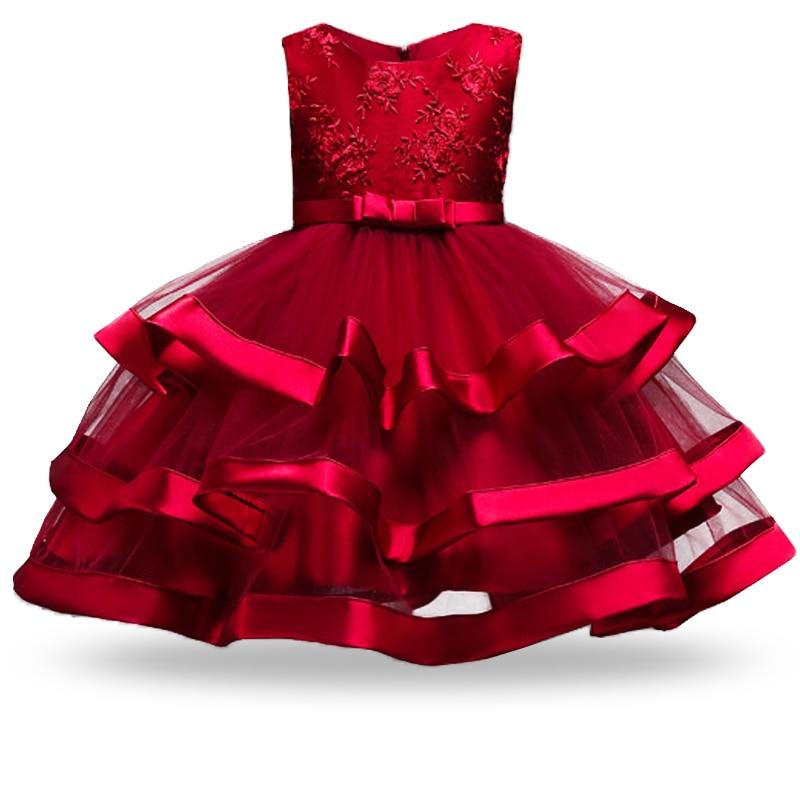 Princess-Kids-Dresses-For-Girls-Christmas-Clothing-2018-Flower-Tutu-Party-Girls-Dress-Wedding-Dress-For