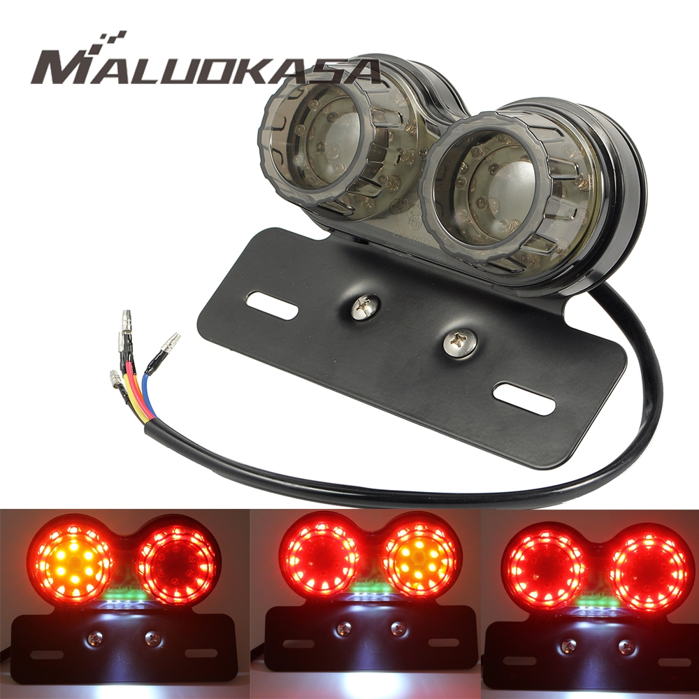 Maluokasa Motorcycle Taillight Turn Signal Indicators