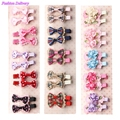 10pcs/lot Girls Hair Accessories Lovely Hair Clips Lace Bowknot Plaid Floral Hairpins Barrettes Gifts For Kids