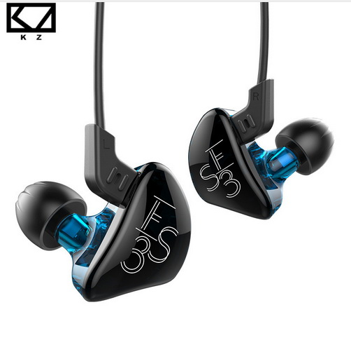KZ ES3 1DD 1BA Hybrid Dynamic And Balanced Armature Earphone In Ear HIFI Stereo Sport Headset Suitable Bluetooth 100% Original 100% original blon s1 3 5mm in ear earphone ba with dd bosshifi s1 balanced armature in ear earphone diy custom sport earphone