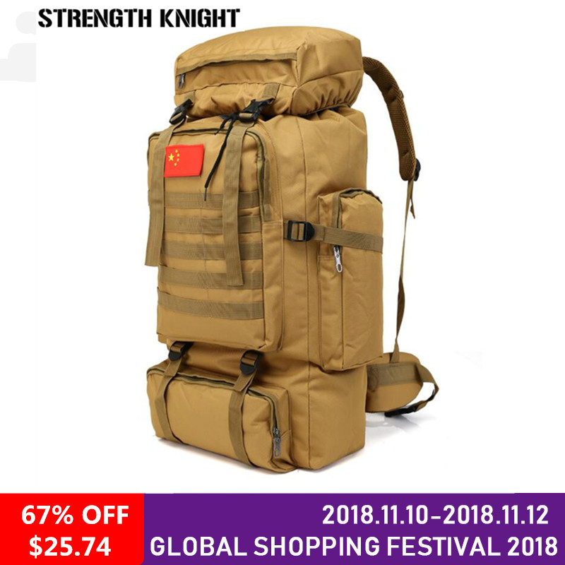 70L Large Capacity Backpack Waterproof Military Tactics Molle Bag Men Backpack Rucksack for Hike Travel Backpacks 70 to 85l big large capacity adjustable multifunction out door travel backpack camouflage nylon tactics molle system rucksack