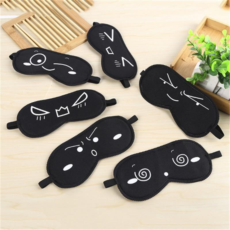 Sleeping Eye Mask Black Eye Shade Sleep Mask Black Mask Bandage On Eyes For Sleeping Health Care Emotion Sleep Mask Cotton Pads Novel (In) Design;