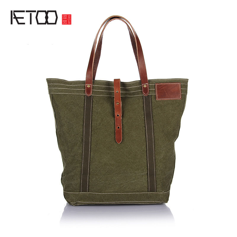 AETOO Canvas bag male shoulder casual retro art Korean version of canvas with leather medium bag tactical 24 5mm 30mm dual ring scope mount with high accuracy angel indicator and bubble level for picatinny rail