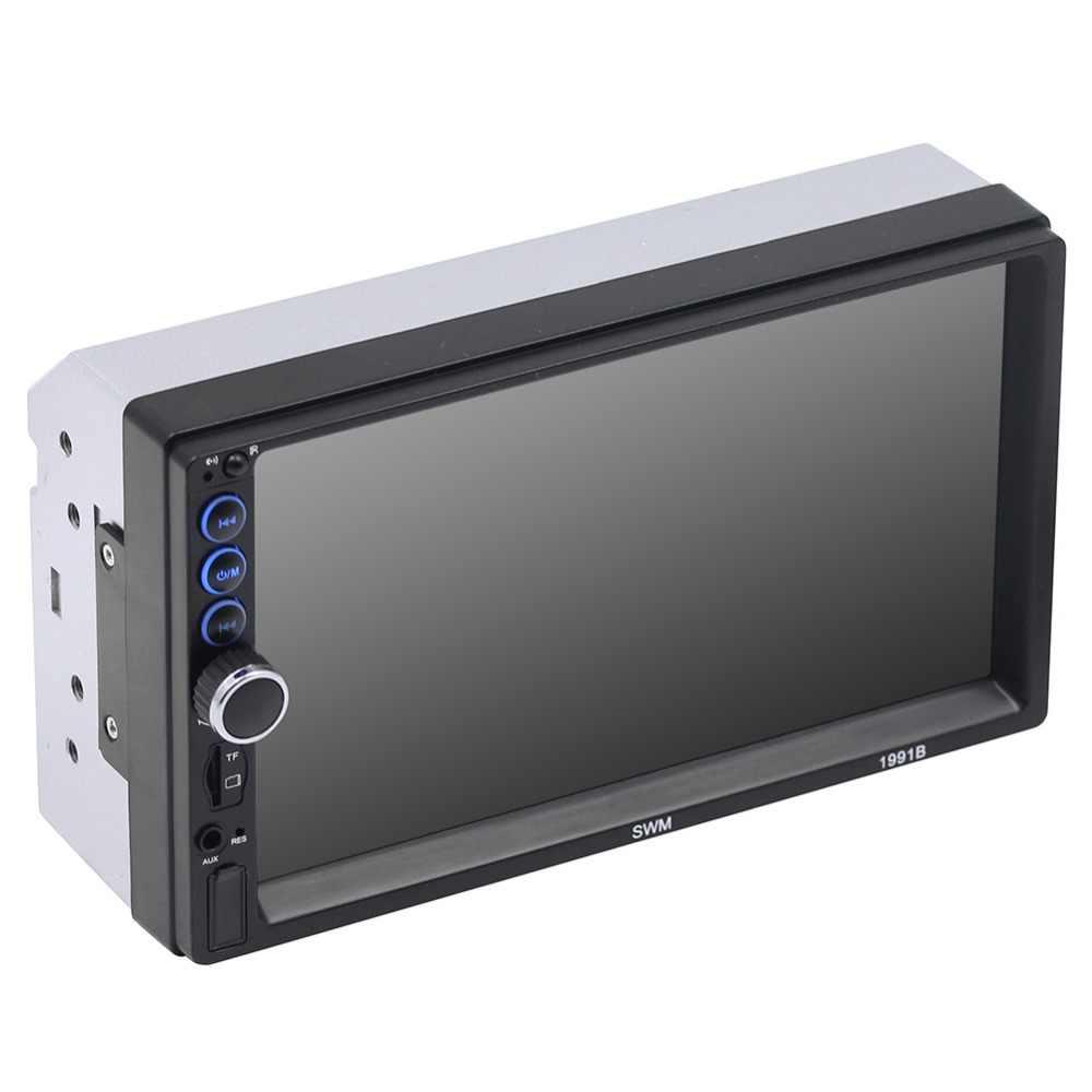 """車ラジオ 2Din インダッシュ 7 """"HD Autoradio MP5 マルチメディアプレーヤーのタッチスクリーンの Bluetooth Usb FM リアビューカメラカメラリモートコントロールオーディオ"""