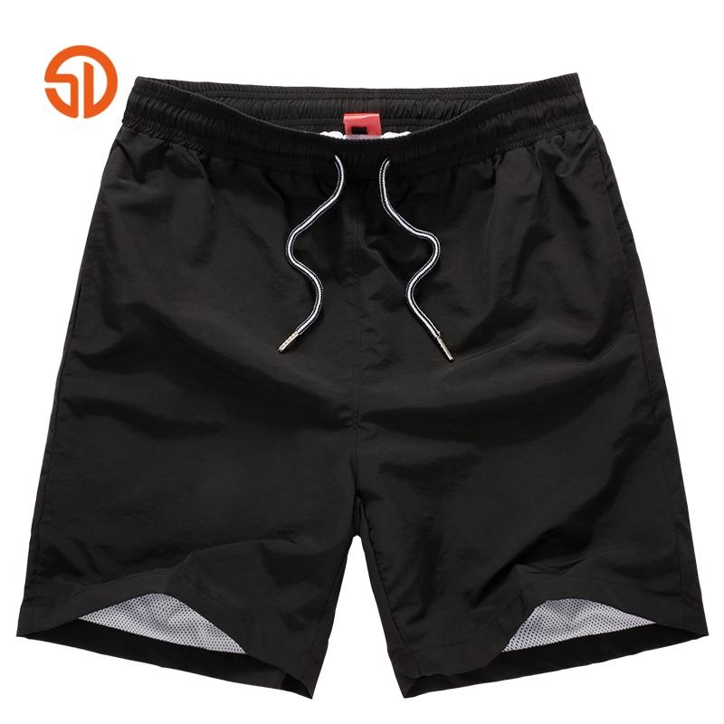 M-4XL Men black   Shorts   Beach   Board     Shorts   Men Quick Drying 2017 Summer Clothing   Board     shorts   Sandy Beach   Shorts