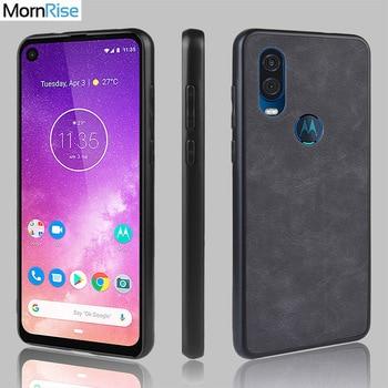 Nueva funda trasera de piel de PU a la moda funda para Motorola Moto una sola visión funda de silicona con borde suave de TPU dentro de lindas Fundas para teléfono móvil