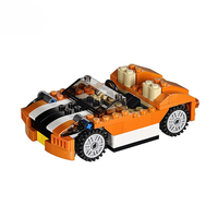 Decool 3108 Architect Series 3 IN 1 Sports Car Buidling Blocks Modern Kids Toy Compatible With