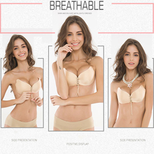 DeRuiLaDy Strapless Women Bra Self-Adhesive Sticky Wire Free LB Invisible Bra Silicone Wedding Underwear Sexy Lingerie Fly Bra