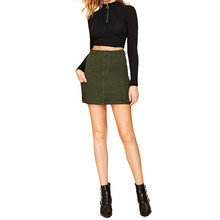 Women's Sexy Skinny Skirt Solid Color Fashion Hot Skirt Falda ajustada sexy para   Jupe chaude de couleur unie#YL-25