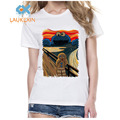 Funny Cookie Monster Design Printed T-Shirt Summer Women's The Cookie Muncher Novelty Short Sleeve Tee Mesh Tops