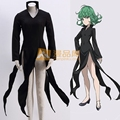 Free shipping  Custom made One Punch Man Cosplay Costume Senritsu no Tatsumaki Cos Uniforms Women Black Dress
