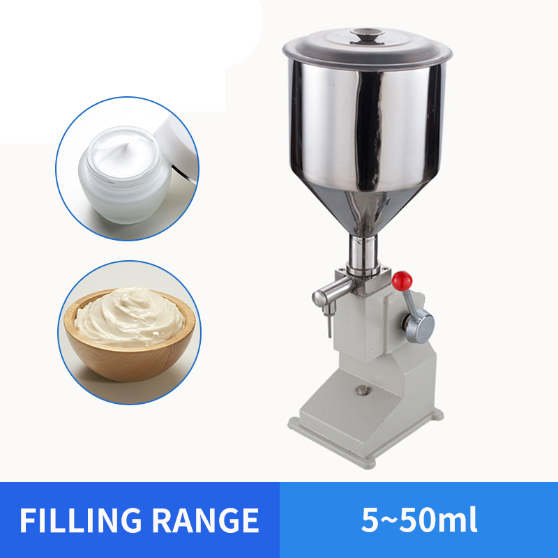 OLOEY 5~50ml Manual Food Filling Machine Small Paste Filling Machine Quantitative Liquid Filling Machine For Cream & Shampoo
