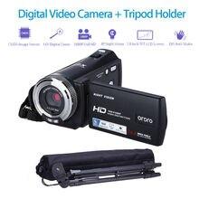 Big discount ORDRO HDV-V12 3.0″ LCD 1080P FHD Digital Camera Camcorder DVR Night Vision CMOS Sensor 16x Zoom Microphone + Tripod
