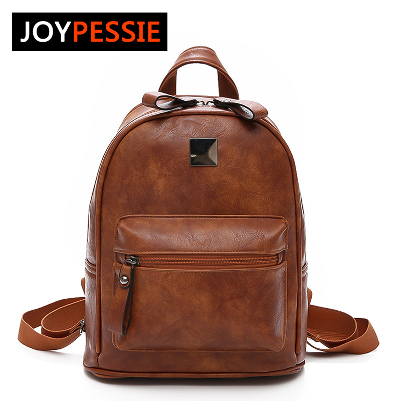 JOYPESSIE New Travel Backpack Korean Women Female Rucksack Leisure Student School bag Soft PU Leather Women Bag for teenager 2017 new korean man pu leather backpack male new style junior middle school students leisure travel backpack fashion bag