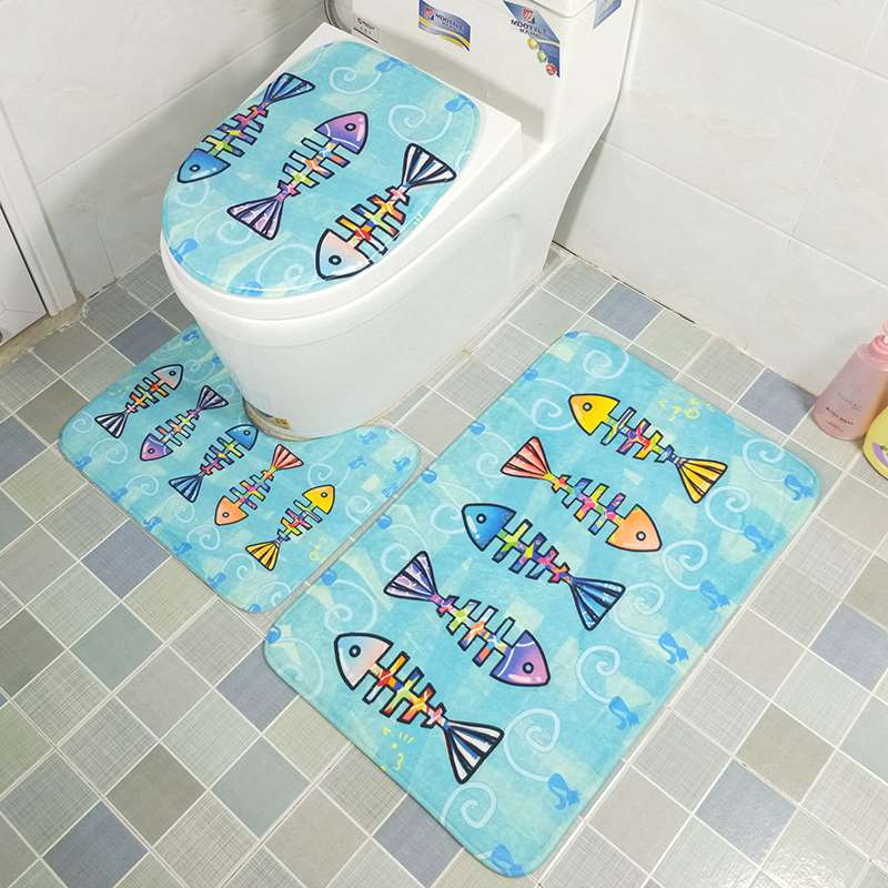 Fine Us 5 27 12 Off 3Pcs Cartoon Toilet Seat Cover Set Absorbent Non Slip Bathroom Rug Bath Mat Set Mat Flannel Floor Mats In Bath Mats From Home Gmtry Best Dining Table And Chair Ideas Images Gmtryco