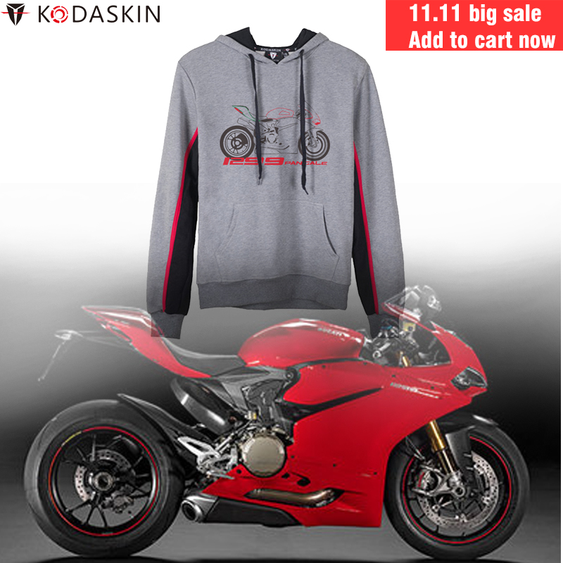 KODASKIN Racer Hoodies Motorcycle Racing Mens Hoody Hooded Sweatshirt for Ducati Panigale 1299KODASKIN Racer Hoodies Motorcycle Racing Mens Hoody Hooded Sweatshirt for Ducati Panigale 1299
