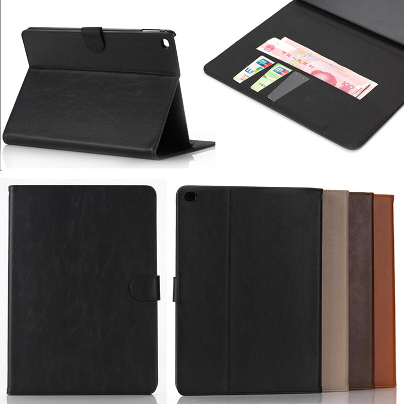 For Cover Apple iPad Air 2/iPad 6 (2014) Crazy Horse PU Leather Case Cover for iPad Air2 A1566 A1567 Tablet Accessories Bags apple ipad air 2 wi fi cellular 16gb gold
