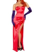 Miss Jessica Gown Kostuum Hoge Split Maxi Jurk 2015 Vrouwen Vestido De Festa Longo Roupas Femininas Vestidos Plus Size Lange jurk
