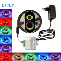 LPILY 5m IP65 2835 Waterproof RGB LED Strip RGB Led Tape With RF Touch Wirless Dimmer