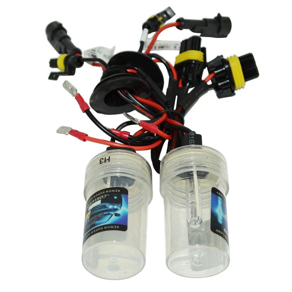 Safego AC 12 V 35 w hid xenon bombillas de faros repacement H1 H3 H4 h7 H8 H9 H11 9005 9006 HB3 HB4 9004 7 6000 k de luces de la lámpara