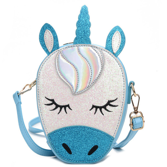 Sequins Unicorn Shoulder Bag For Girls