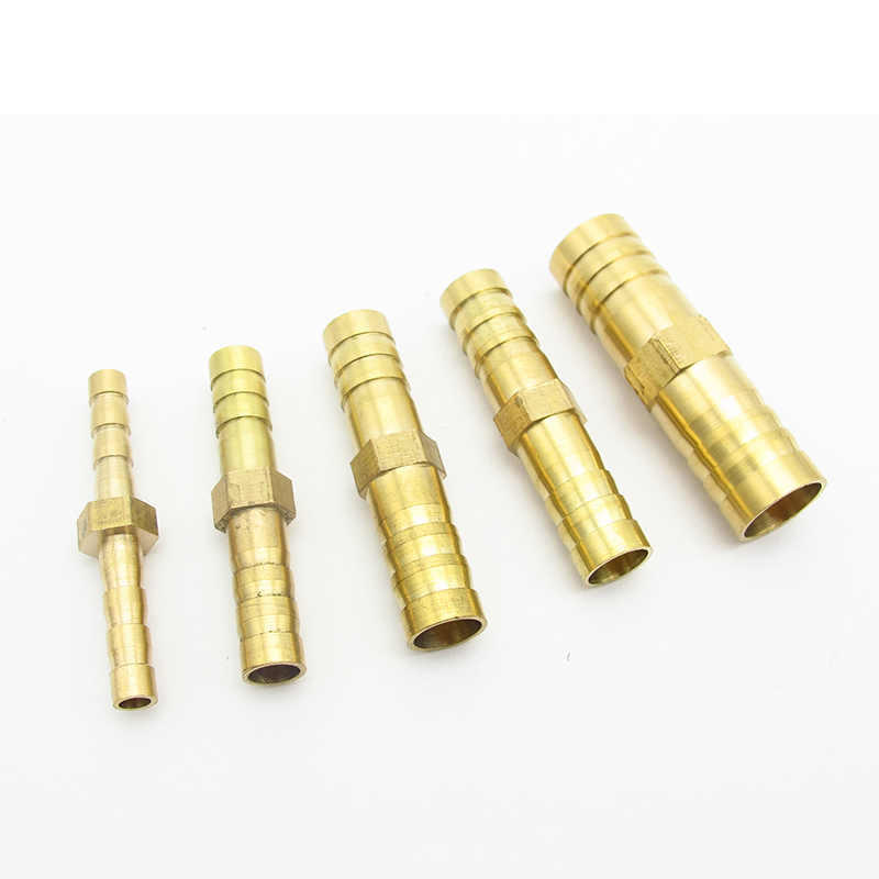 4mm 5mm 6mm 8mm 10mm 12mm 14mm 16mm 19mm 25mm Hose Barb Straight 2 Way Brass Barbed Pipe Fitting Coupler Connector Adapter
