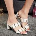 2017 de espessura com quem ms com correspondência de cores moda PU sandálias chinelos de verão chinelos confortáveis