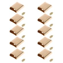 THINKTHENDO 10pcs Leather Craft DIY Metal Zipper Tail Clips Buckle Stop Plug Head Tool Fastener with Screws Bag Accessories