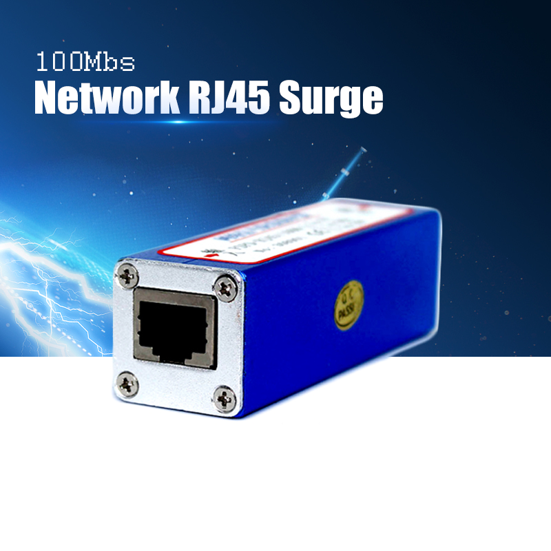 YiiSPO Network RJ45 Surge Protector Thunder, Power Surger Protection, Lightning Arrester For 100Mbs Ethernet/IP Camera