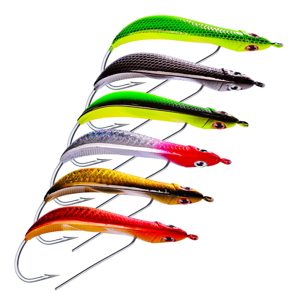 Artificial Fake Fishing Plastic Hard Bass 1PC Baits High Quality 3D Eyes Ocean Boat Fishing Sturdy Hook Minnow Lures