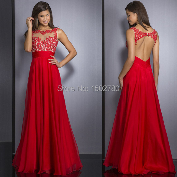 4953a3993dbf Free Shipping Prom Dress Backless Appliqued Illusion Lace Top Long Red Prom  Dress For Chubby Girls-in Prom Dresses from Weddings   Events on  Aliexpress.com ...