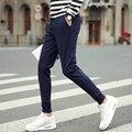 2016 La Venta Caliente Nuevo Diseño de Los Hombres Casuales Pantalones de Algodón de Buena Calidad Ocasional de Los Hombres Delgados Sólidos Pantalones de Los Hombres de Negocios Pantalones ocasionales de los niños