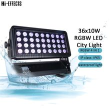 Stage Effect 36x10w City Color Light RGBW 4IN1 Outdoor Led Wash Lights Waterproof Led Color Wash Lights Nightclub Decoration