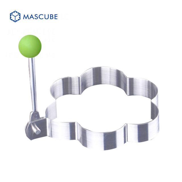 Mascube 4pcs/lot stainless steel omelette mould device love eggs ring model set heart shape egg mold styling tools ferramentas