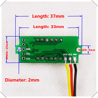 3 colors of each lot 4 Digit 0.36 Digital Voltmeter multimeter 0 33V Three wires Voltage Panel Meter LED [ 12 pieces / lot]