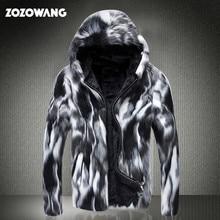 ZOZOWANG 2020 winter faux fur coat men wild personality thick fur Jacket Leather