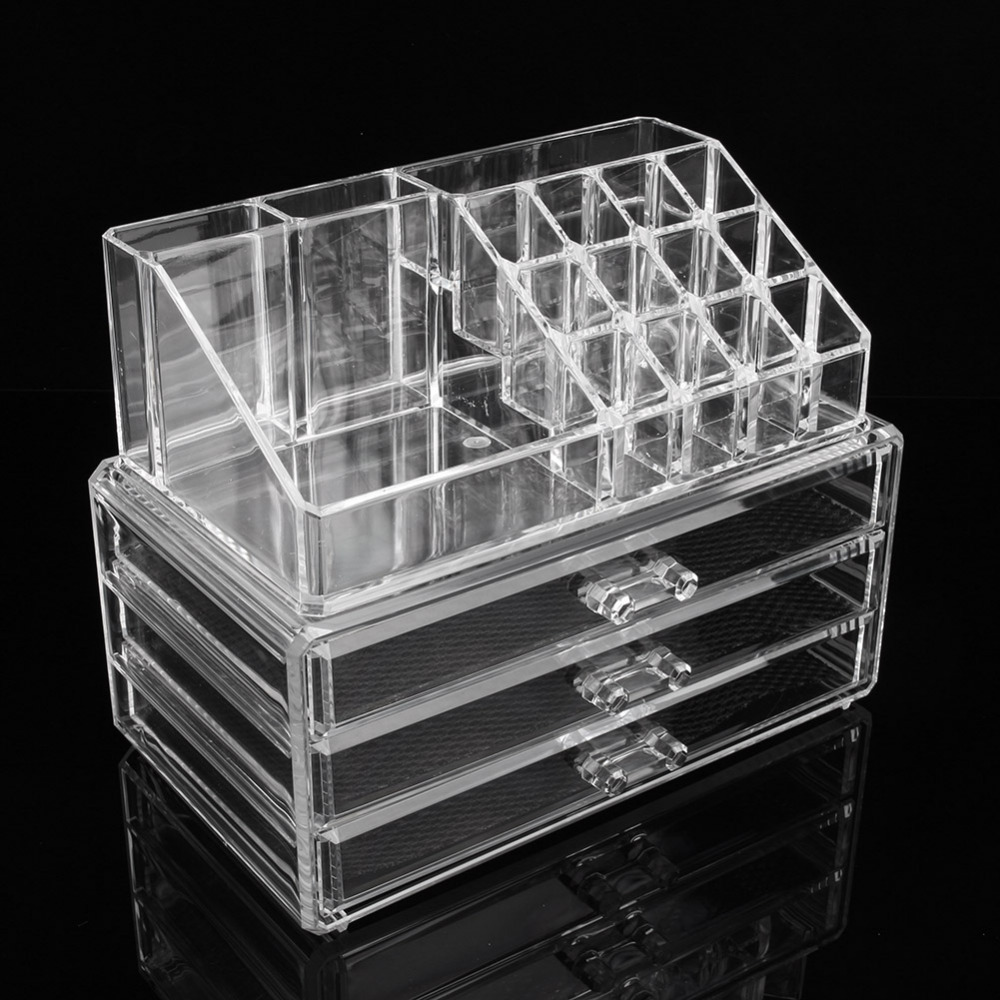 Acrylic Large Makeup Organizer Drawers Makeup Vidalondon