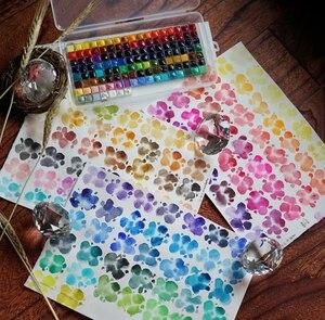 Mijello акварельные Acuarelas Художники рисуют золотые акварельные краски 126 панхроматические 0,5 мл Arte Verf Sub Packing водный цвет