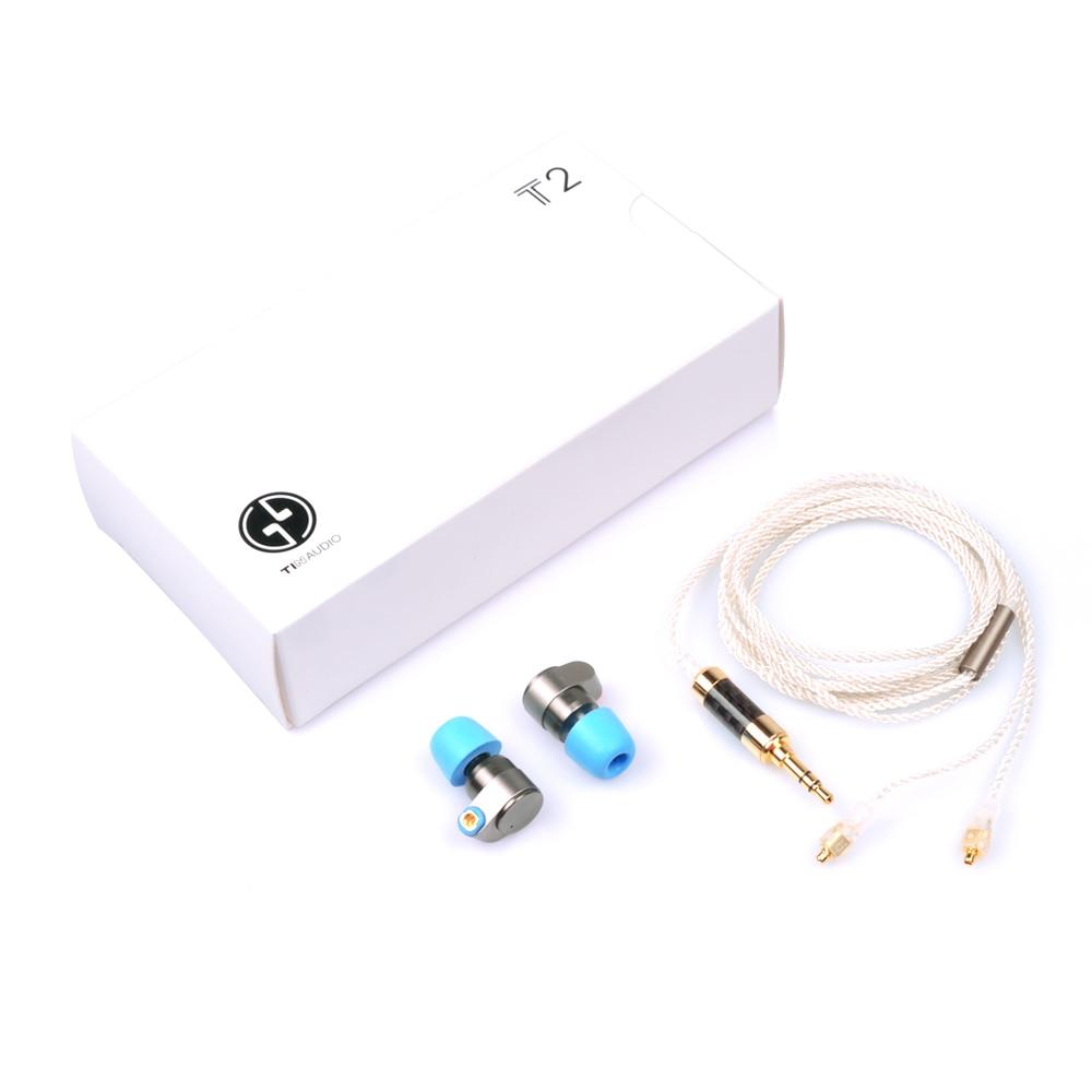 Estaño de Audio T2 3,5mm en el auricular del oído doble dinámicos conducir auriculares HIFI bajo DJ auriculares de Metal MMCX desmontable auriculares T515/T1 - 5