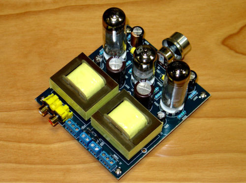 Douk Audio 6P14 Tube Power Amplifier Single-Ended Class A HiFi Amp Board DIY Kit l passam gold field effect transistor audio power amp single ended class a 2 25w hifi amplifier