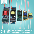 Светодиодный драйвер  1-36 Вт  входное AC90-265V  источник питания  трансформатор постоянного освещения для светодиодов  Драйвер лампы  светодиод...