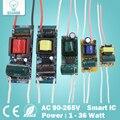 1-36 W LED controlador de entrada AC90-265V integrada de la fuente de alimentación de corriente constante 300mA iluminación transformadores para DIY lámparas LED