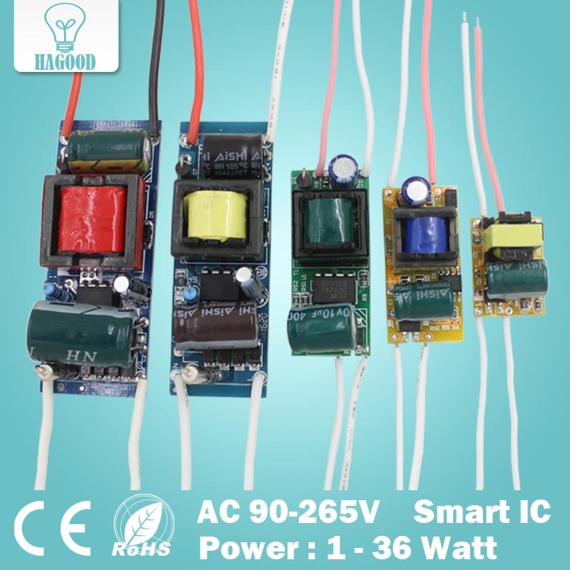 1-36W קלט AC90-265V אספקת חשמל קבוע שנאי תאורת led מנורת נהג Led נהג עבור led אורות