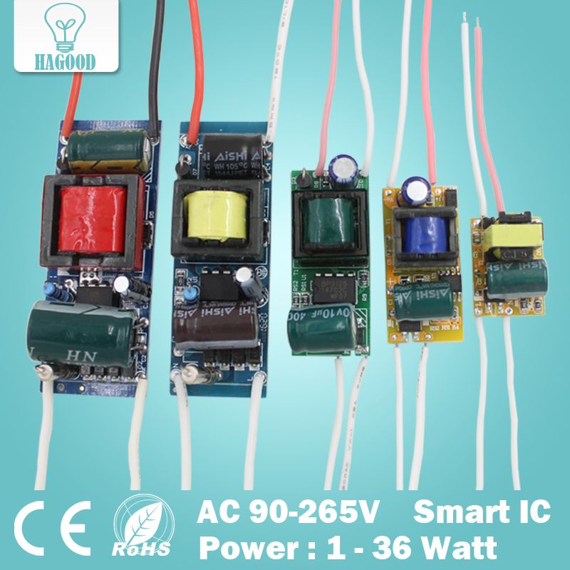 1-36W LED Driver Input AC90-265V Power Supply Built-in Constant Current 240-300mA Lighting Transformers For DIY LED Lamps