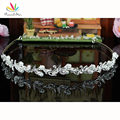 Peacock Star Bridesmaid Bridal Wedding Party Quality Flower White Simulated Pearl Headband Tiara CT1414