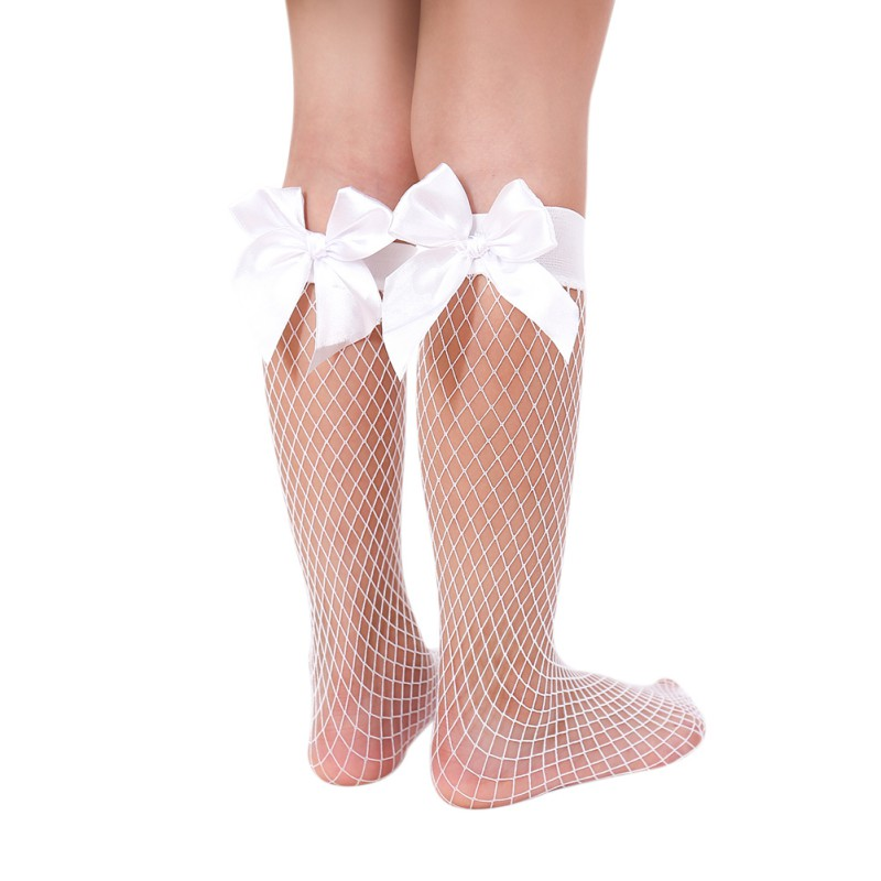 Newborn Baby Girls For 0-3Y Chiffon Ankle High Socks Lovely Mesh Lace Bow-knot Princess Fishnet Short Socks Baby Girl Lace Sock
