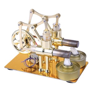 Image 4 - ガンマスターリングエンジン金属二重円筒電球外部燃焼熱パワーエンジンモデル物理学実験のおもちゃ