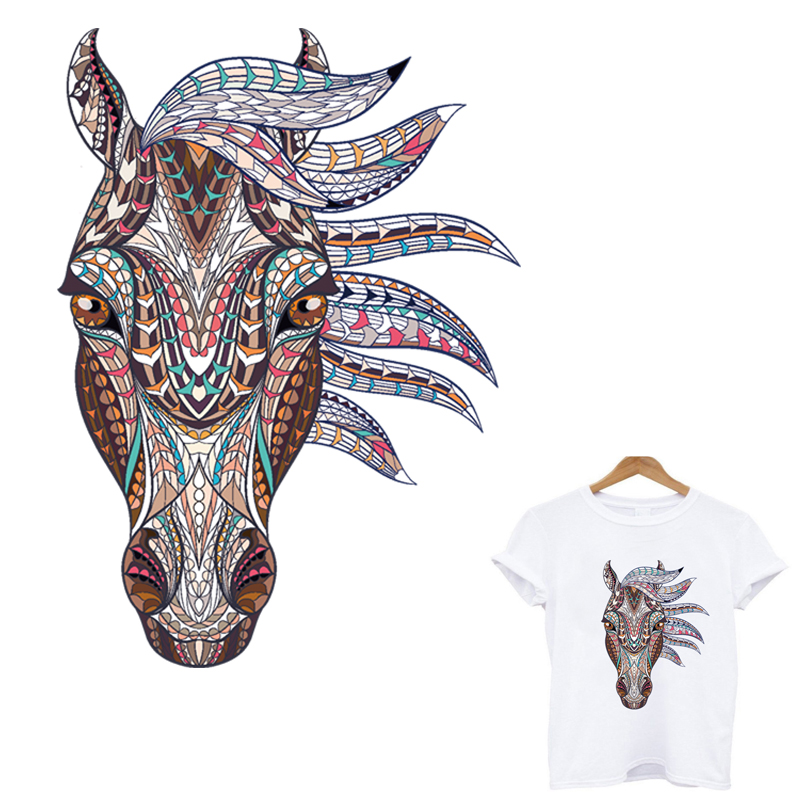 Personalized horse patch ironing applications for clothing iron on patches transfert thermocollants t-shirt stripes for clothes
