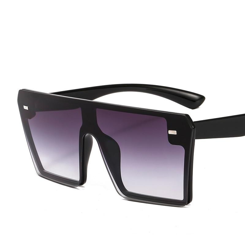 Flat Top Square Sunglasses Celebrity Oversize Women Gradient Glasses Men Brand Designer in Women 39 s Sunglasses from Apparel Accessories