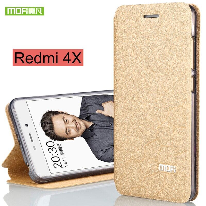 For Xiaomi Redmi 4X Case Cover Silicone for redmi4x case Flip TPU Leather Original Mofi for Xiaomi redmi 4X Pro Case hard coque